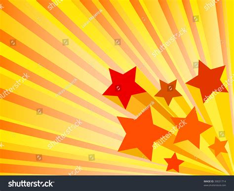 Orange Stars Background Stock Vector Illustration 39031714