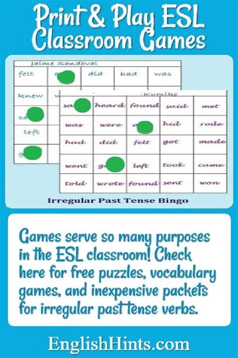 printable esl classroom games