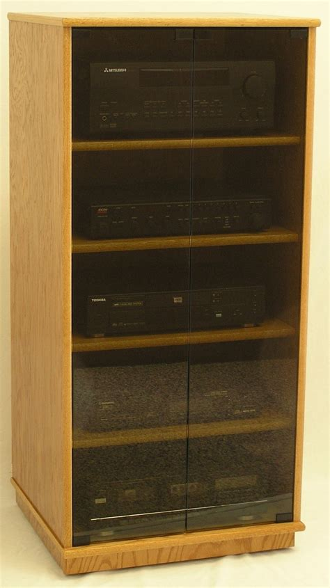 stereo cabinet with glass doors stereo cabinet with glass doors 27 quot 73 quot high oak maple