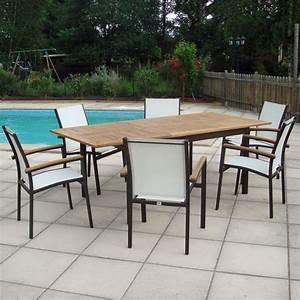 Table De Jardin Solde : table salon de jardin aluminium et bois ~ Teatrodelosmanantiales.com Idées de Décoration