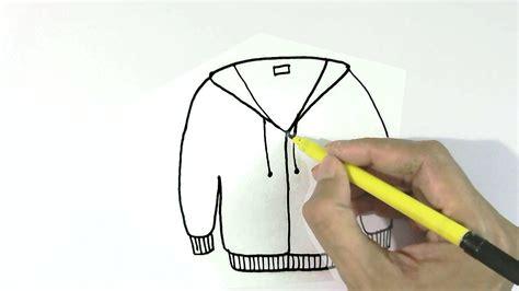 draw jacket  sweater  easy steps  children