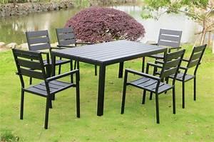 Table De Jardin 8 Places : table de jardin en aluminium 8 places 6 chaises anzio 6 ~ Teatrodelosmanantiales.com Idées de Décoration