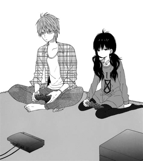 anime couple playing video games untitled image 3538081 by winterkiss on favim com