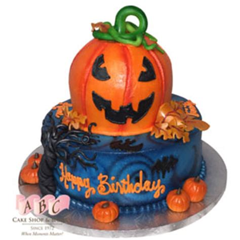 pumpkin birthday cake abc cake shop bakery