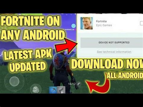 fortnite android  supportedfix solution  works