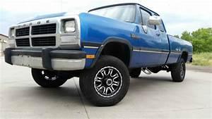 Dodge Ram 2500 Extended Cab Pickup 1993 Blue For Sale