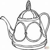 Cucina Teapot Colorear Tetera Dibujos Disegni Imprimir Coloring Utensili Dibujo Theepot Kleurplaat Immagini Ausmalbilder Template Colorare Teteras Teekanne Kleurplaten Gratis sketch template