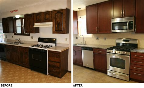 Kitchen Makeover On A Budget Ideas - kitchen remodel before and after picture home ideas collection galley kitchen remodel before