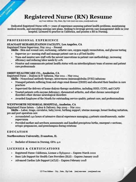 Registered Nurse (rn) Resume Sample & Tips  Resume Companion