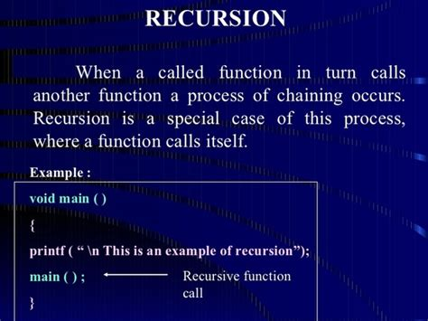 What Is The Logic Behind Recursion In C Programming Quora