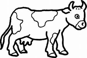 Monochrome clipart farm animal - Pencil and in color ...