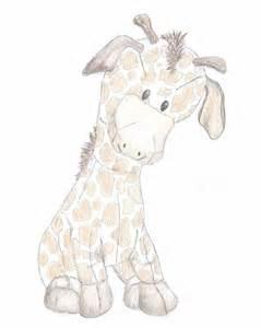bunny nursery giraffe nursery drawing print giraffe sketch