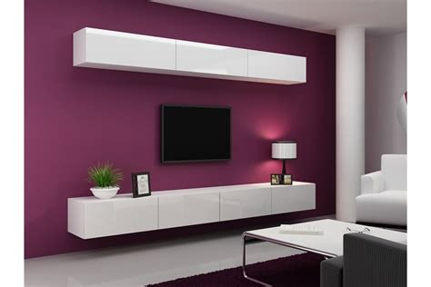 etagere chambre meuble tv design suspendu fino design