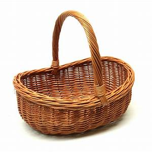 Wicker Basket with Handle, Great for Gift, Storage Carry