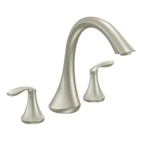 moen eva 2 handle deck mount roman tub faucet trim kit in