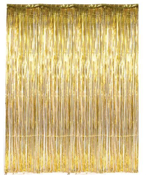 metallic foil fringe curtains dr69268 gold foil fringe curtain