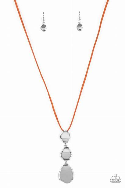 Paparazzi Necklace Embrace Journey Orange Bling Everything