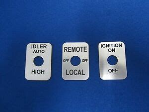 Lincoln Welder Toggle Switch Legend Plates