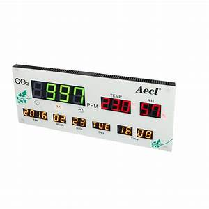 Co2  Temperature And Rh Air Quality Display  Monitor