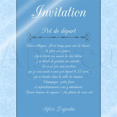 invitation 224 un pot de d 233 part en retraite gt16 jornalagora