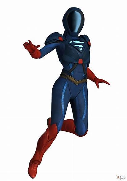 Supergirl Injustice Deviantart 3d Models Armored Multiverse