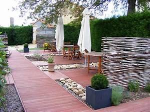 Amenagement Petite Terrasse Exterieur : am nagement d une terrasse jardin horenove ~ Melissatoandfro.com Idées de Décoration