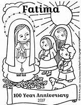 Coloring Fatima Lady Catholic Anniversary Printable Rosary Religious Mercy Maria Crafts Church Children Religionsunterricht Domestic Corporal Christian Education Prayer Mother sketch template