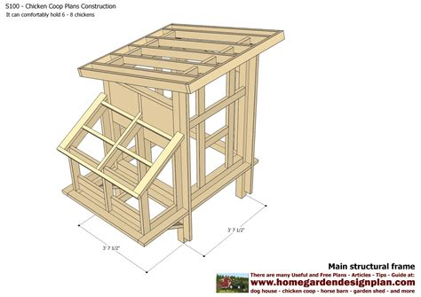 chicken coop blueprints simple chicken coop plans for 6 chickens