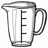 Measuring Cup Clipart Animasi Cups Gelas Lineart Gambar Vektor Liter Capacity Garis Ukur Line Litry Mengukur Transparent Svg Messbecher Klascement sketch template