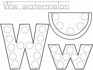 Do a dot letter w printable preschool and homeschool for Dots alphabet letter