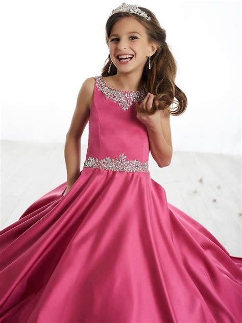 Tiffany Princess 13506 Scoop Neckline Aline Pageant Dress