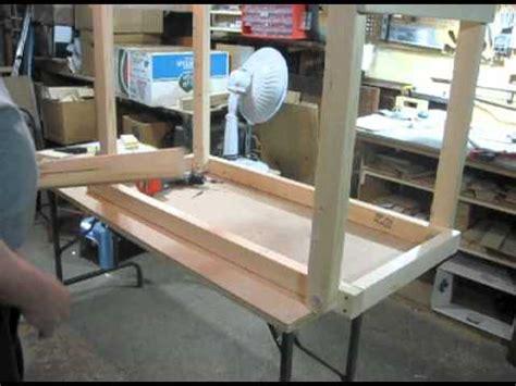 how to make desk legs folding leg work table youtube