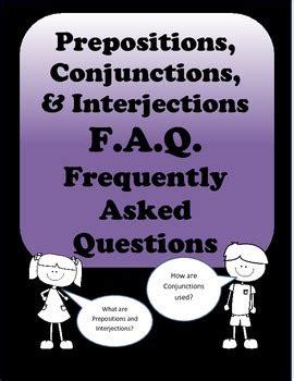 grammar worksheets prepositions conjunctions