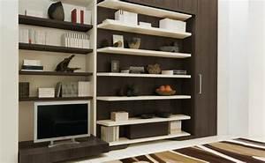lgm lit escamotable et bibliotheque tournant antony deco With meuble gain de place studio 1 lit relevable lit escamotable lit rabattable antony deco