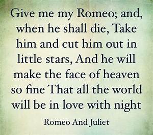 Shakespeare Romeo And Juliet Quotes Enchanting Romeo And ...