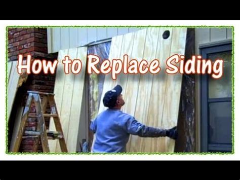replace plywood siding youtube