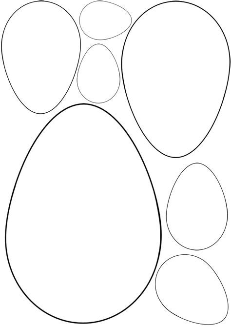 Egg Template Easter Egg Templates Rooftop Post Printables