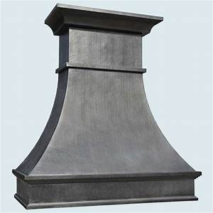 Hand Crafted Zinc Range Hood With French Mantle Band by