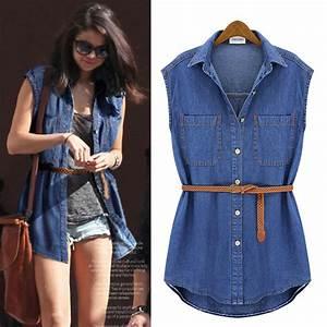 Womens Denim Shirt Dress With Original Pictures u2013 playzoa.com