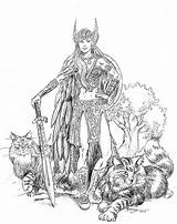Norse Coloring Pages Goddess Mythology Freyja Adult Freya Valkyrie Warrior Gods Cats Mygodpictures Viking Tattoo Goddesses Yahoo Fantasy Books Woman sketch template
