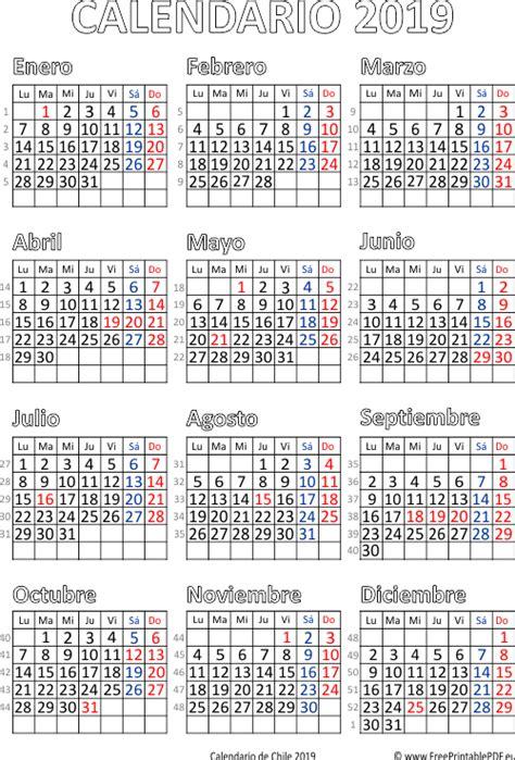 calendario de chile  imprimir el  gratis