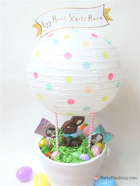 diy hot air balloon easter basket  rm palmer candy