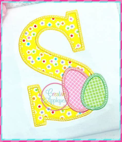 easter eggs alphabet applique creative appliques