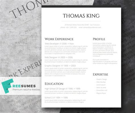 Stylish Resume Templates by Professional Clean A Basic But Stylish Resume Layout