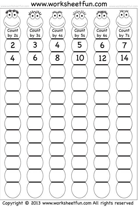 Skip Counting By 2, 3, 4, 5, 6 And 7  Worksheet  Free Printable Worksheets Worksheetfun