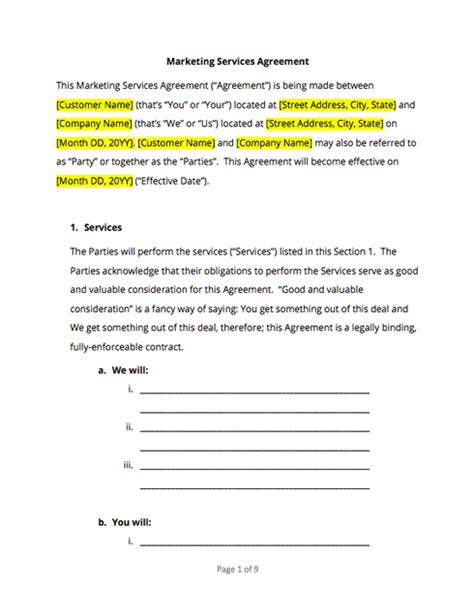 contract templates and agreements with free sles docsketch