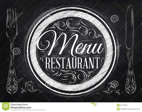 restaurant la cuisine restaurant de menu d 39 affiche craie illustration de