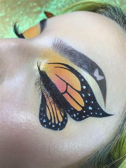 Makeup Eye Looks Creative Ojos Butterfly Maquillaje
