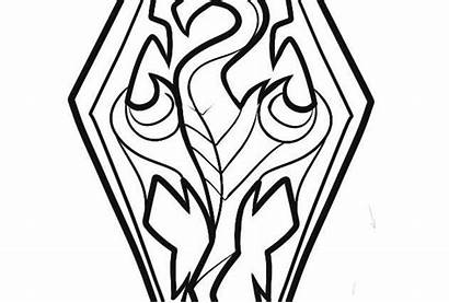 Skyrim Coloring Pages Dragon Printable Getcolorings Getdrawings