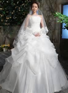 princess gown wedding dress pretty princess strapless gown ruched zipper up wedding dress ndir fashion
